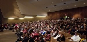 Approx. 800 people listen to Dr. Matthew Desmond at Henninger High School